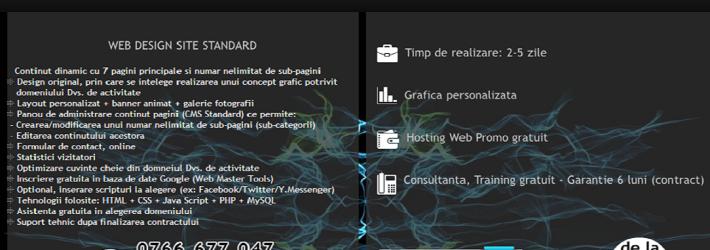 Care sunt diferitele pachete de web design?