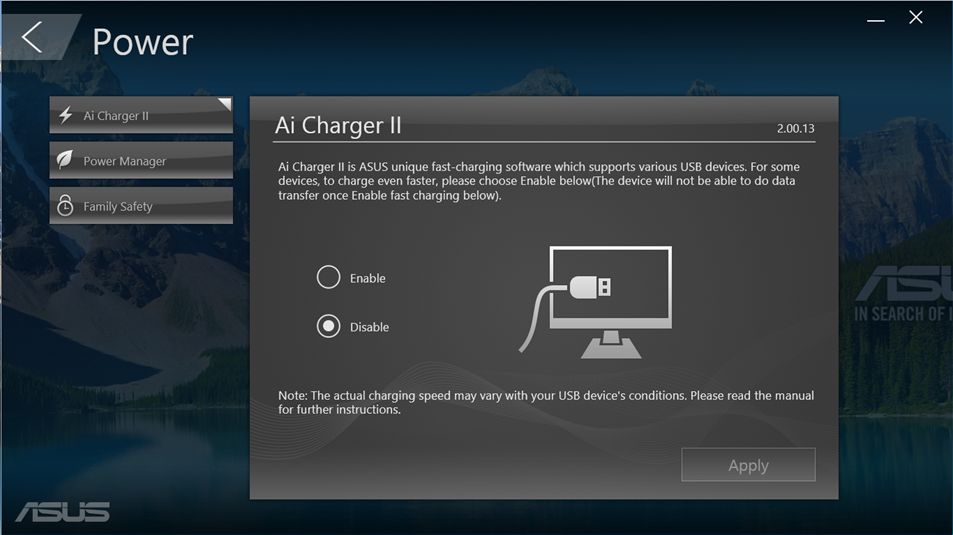 programul Asus Ai Charger